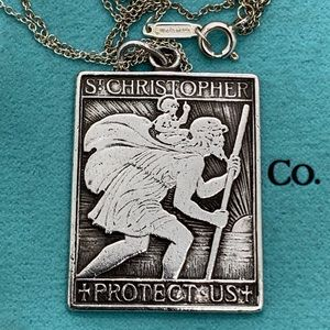 """Tiffany & Co.925 St. Christopher 16"""" Long"""